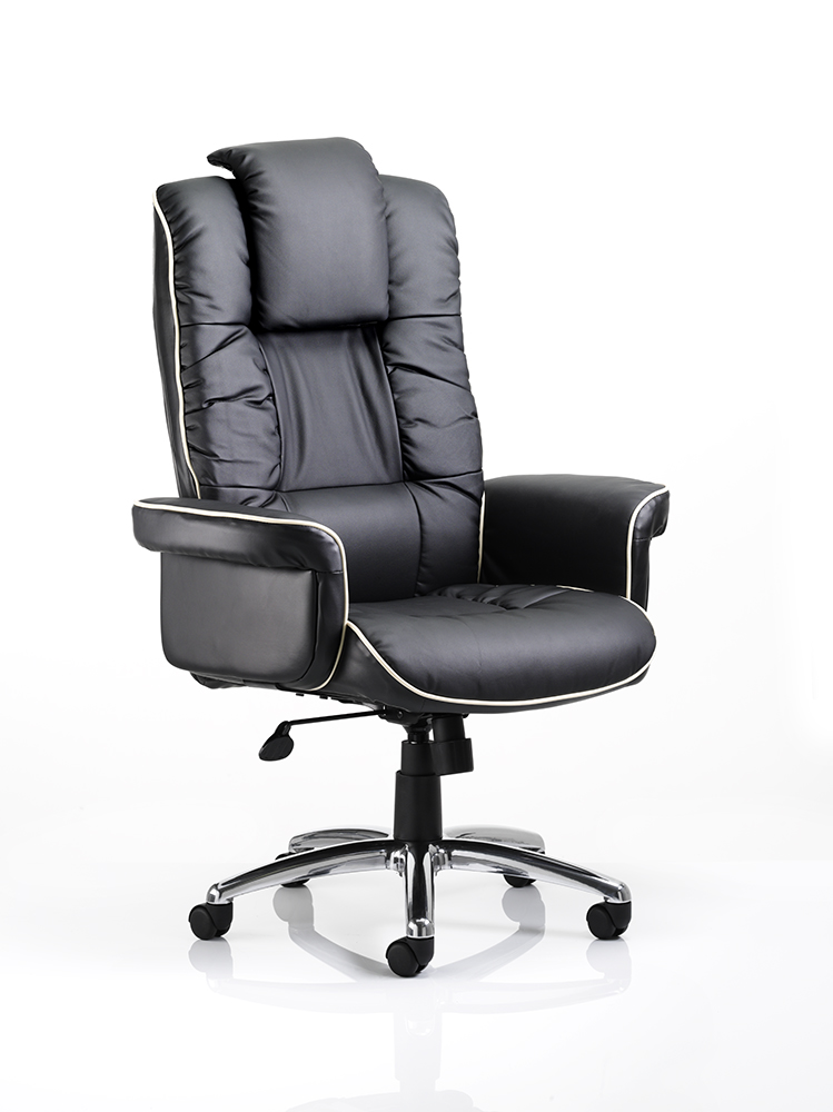 Chelsea Leather Office Chair in Black or Cream