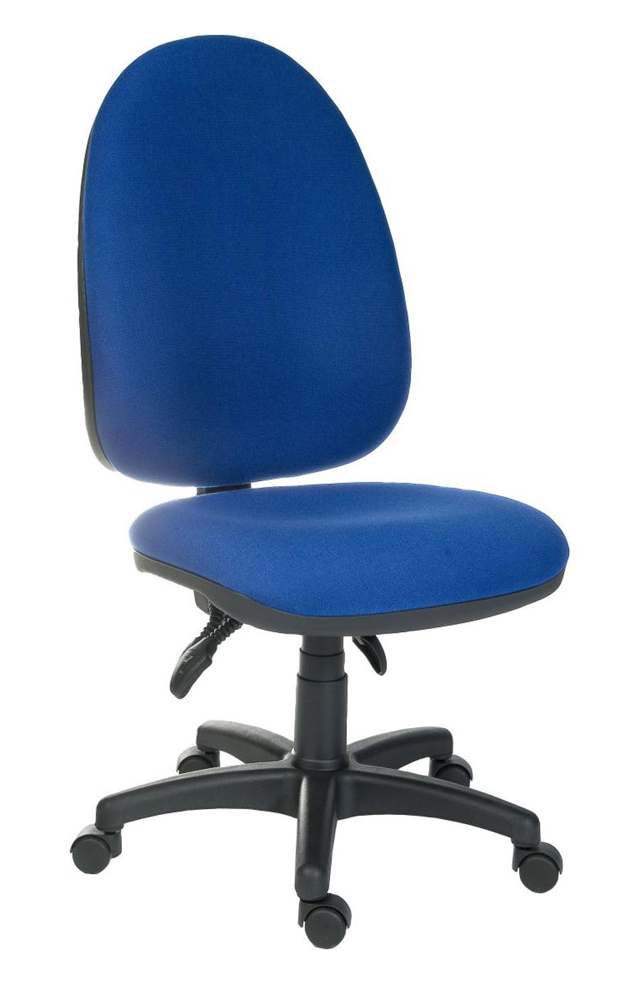 blue office chair bentwood bistro chairs uk officer large asynchronous ergonomic