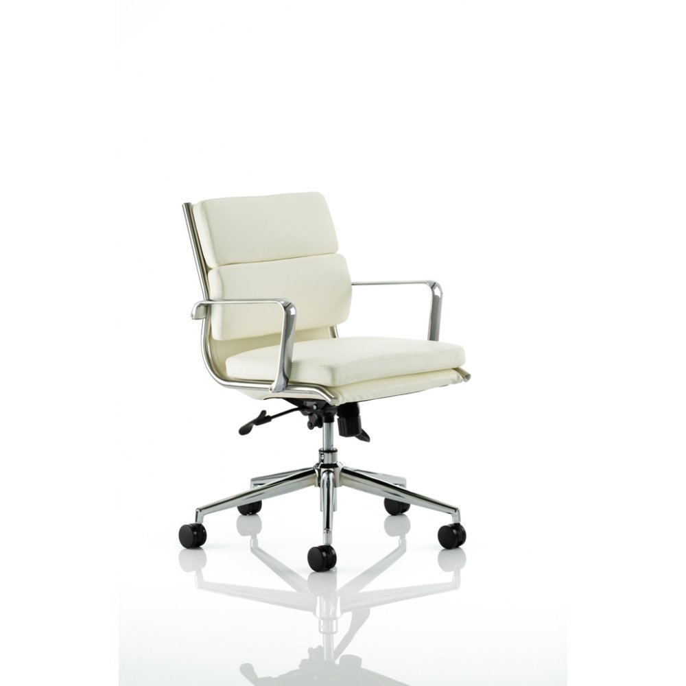 ivory leather office chair lounge covers brisbane savoy medium back or black