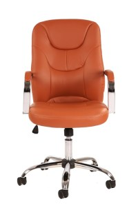 Trend Tan Leather Office Chair