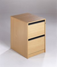 Maestro 2 Drawer Wooden Filing Cabinet