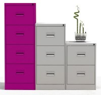 4 Drawer A4 Filing Cabinet Purple