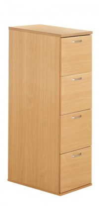 Wood 4 Drawer Filing Cabinet Beech