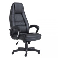 Noble Black Leather Office Chair