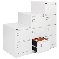 Silverline Executive 3 Drawer Filing Cabinet White