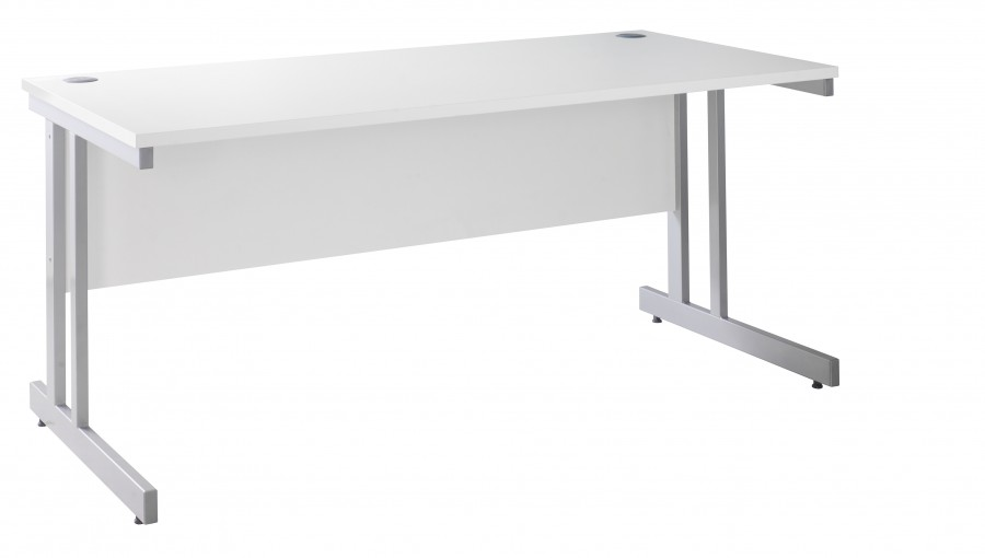 White Straight Office Desk 1800mm Wide
