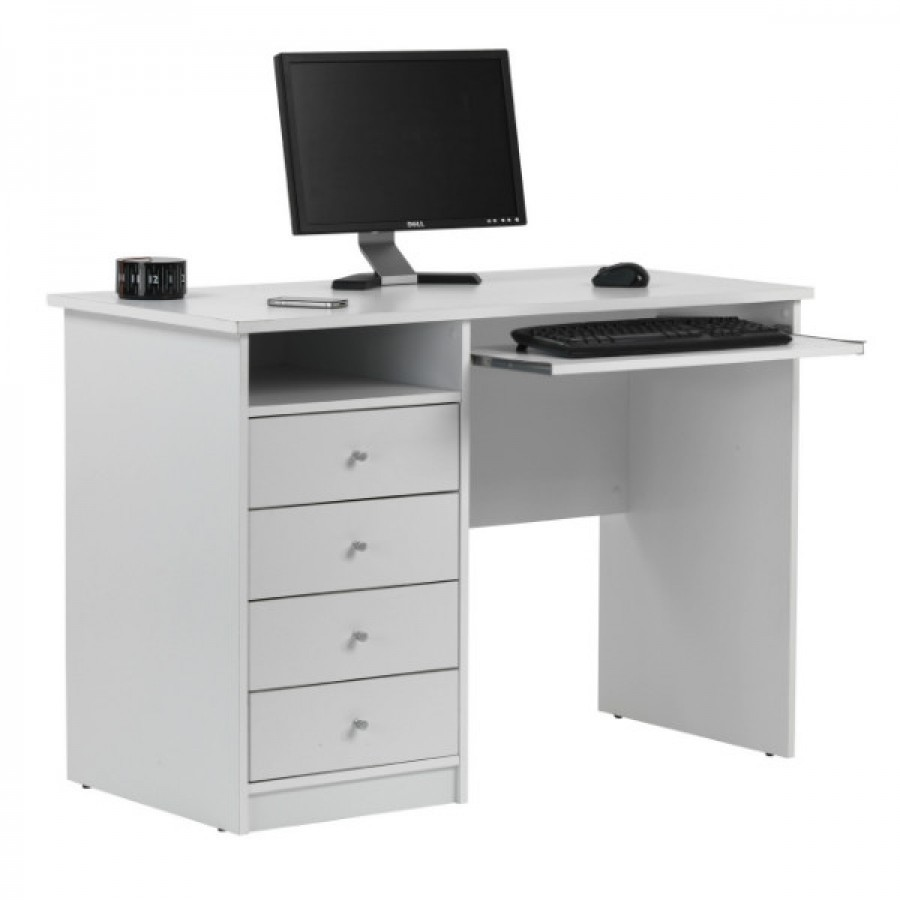 Marymount White Computer Desk by Alphason  AW22813WH
