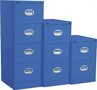 Silverline Kontrax 2 Drawer Filing Cabinet Royal Blue