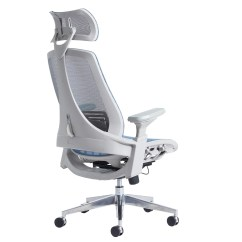 Back Support Office Chairs Uk Leather Swivel Chair Recliner Sorrento Blue 24 Hour Mesh