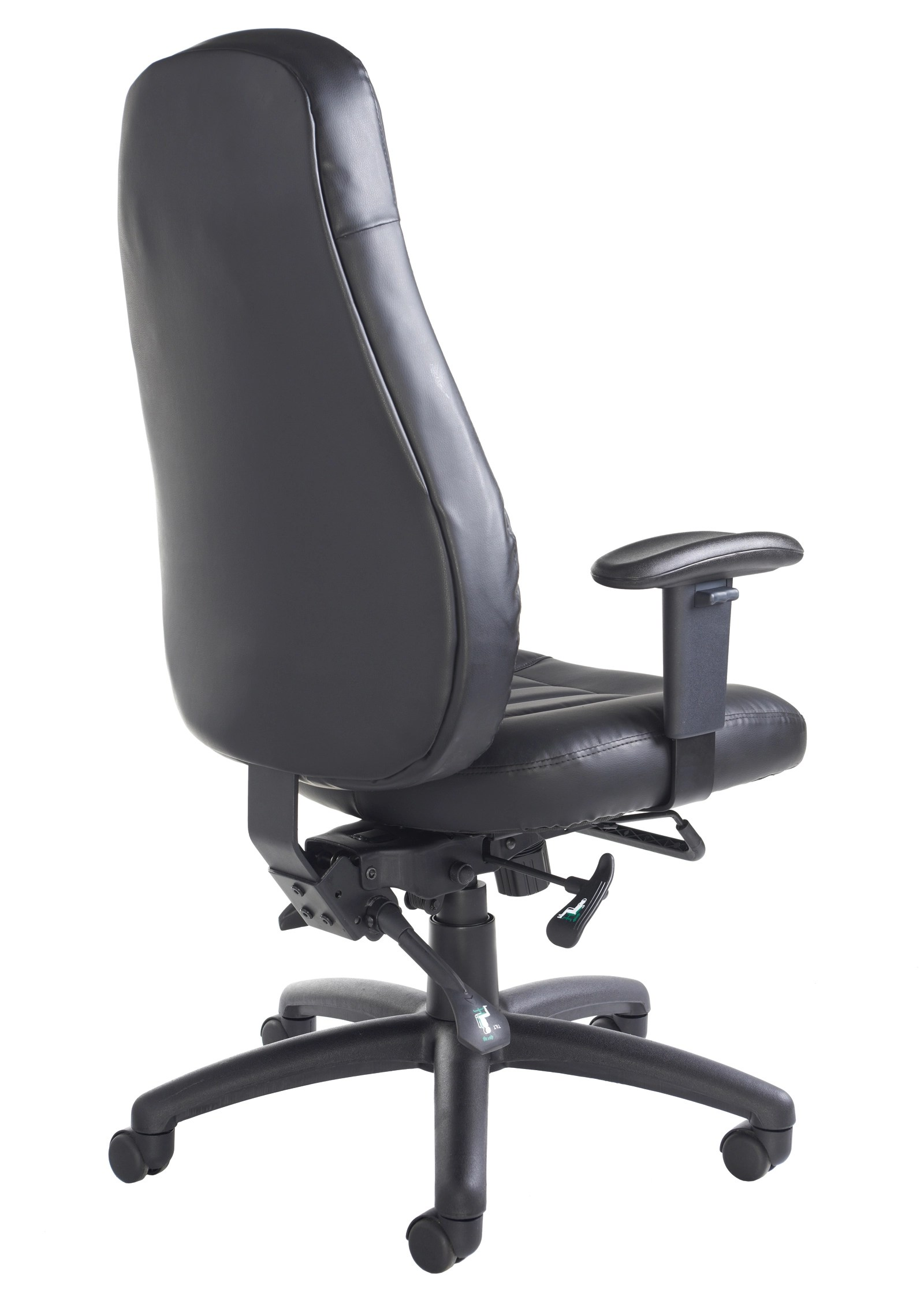 office chair leather steel frame design zeus 24 hour use