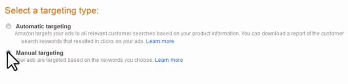 Choosing between automatic and manual targeting in Sponsored Products