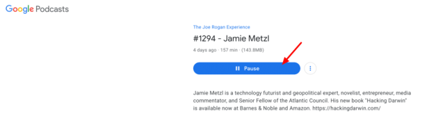 podcast google search autoplay