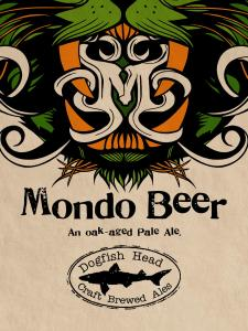 "Logo art by Tyler Stout for an exclusive ""Mondo Beer"" from Dogfish Head that was served at the convention."