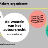 """Debat """"De waarde van het auteursrecht"""" – donderdag 10 oktober"""