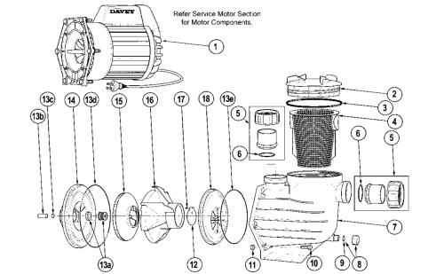 small resolution of davey power master pool pump spare parts