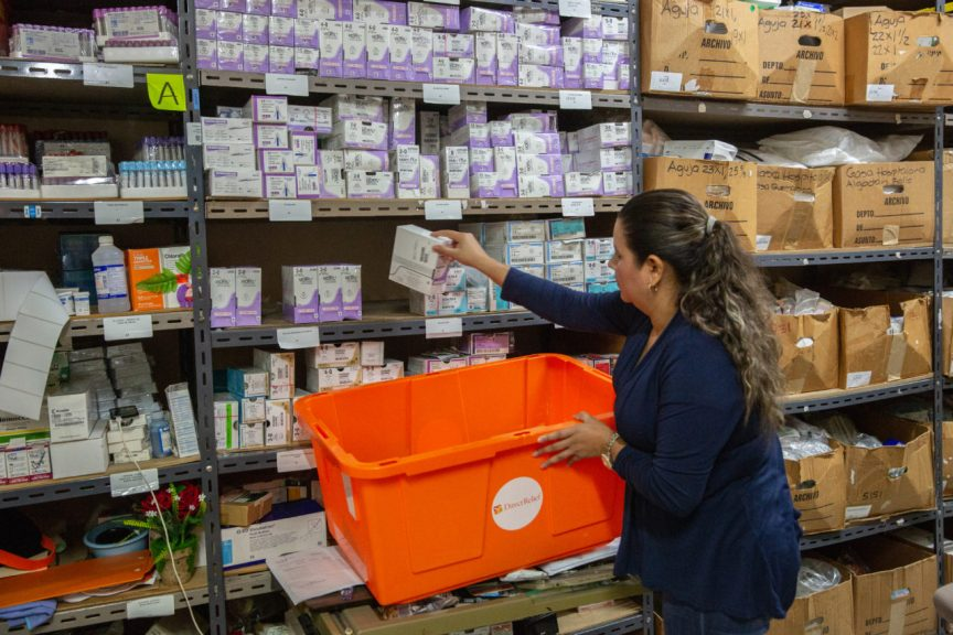 The hospital provides free medication to patients, and Direct Relief has been able to supply the facility with charitable medicines. (Photo by Francesca Volpi for Direct Relief)