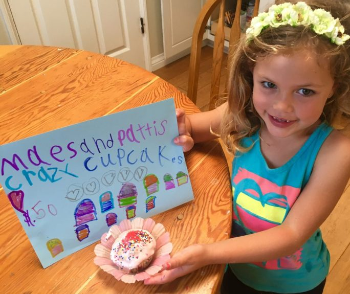 With a commitment to empowering girls worldwide, Mae Pesendian raises funds for Direct Relief by selling baked goods to neighbors and friends. (Photo courtesy of Patti Weber)