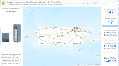 The map above outlines where refrigeration capacity will be expanded in Puerto Rico. Click the map to explore.