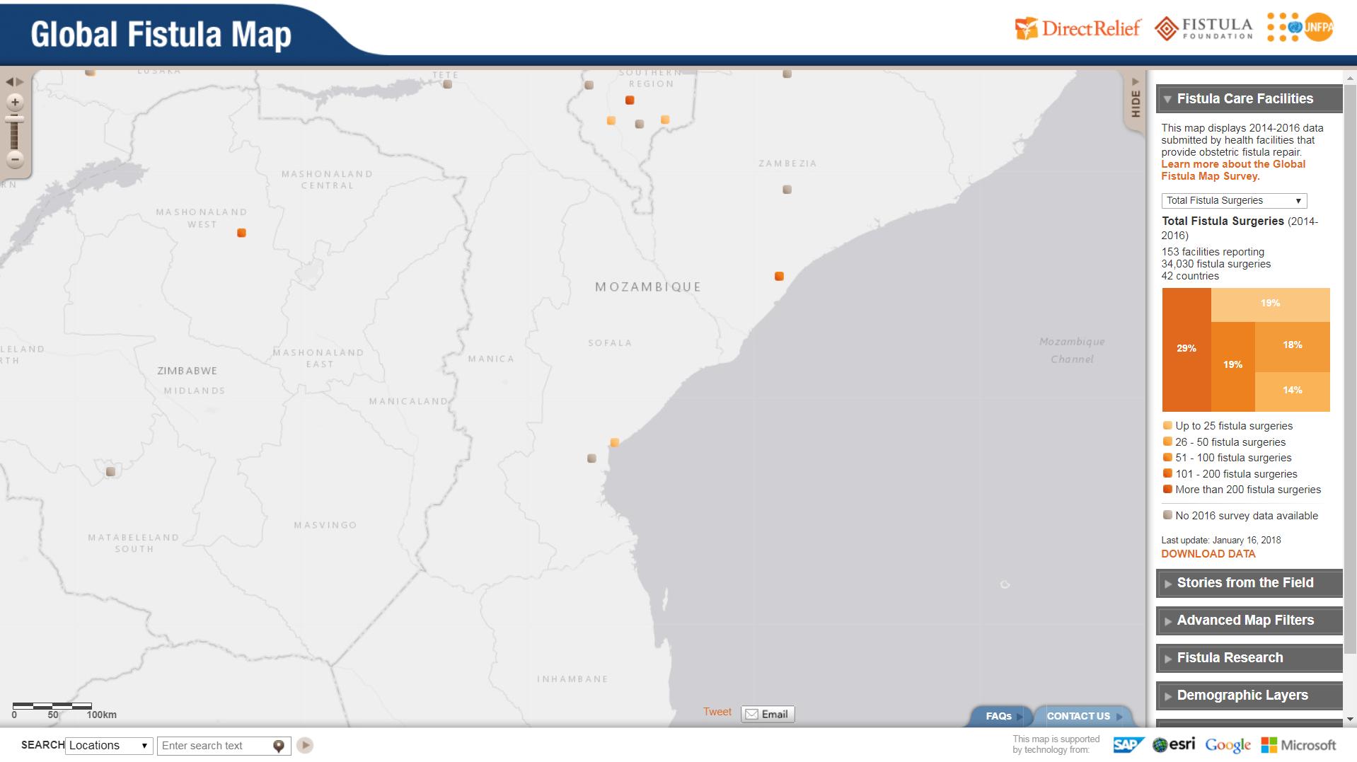 Global Fistula Map - Mozambique