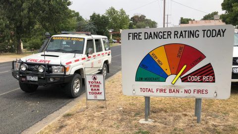 Victoria is experiencing extreme fire conditions as Australia's summer begins. Photo: Chris Alleway/Direct Relief