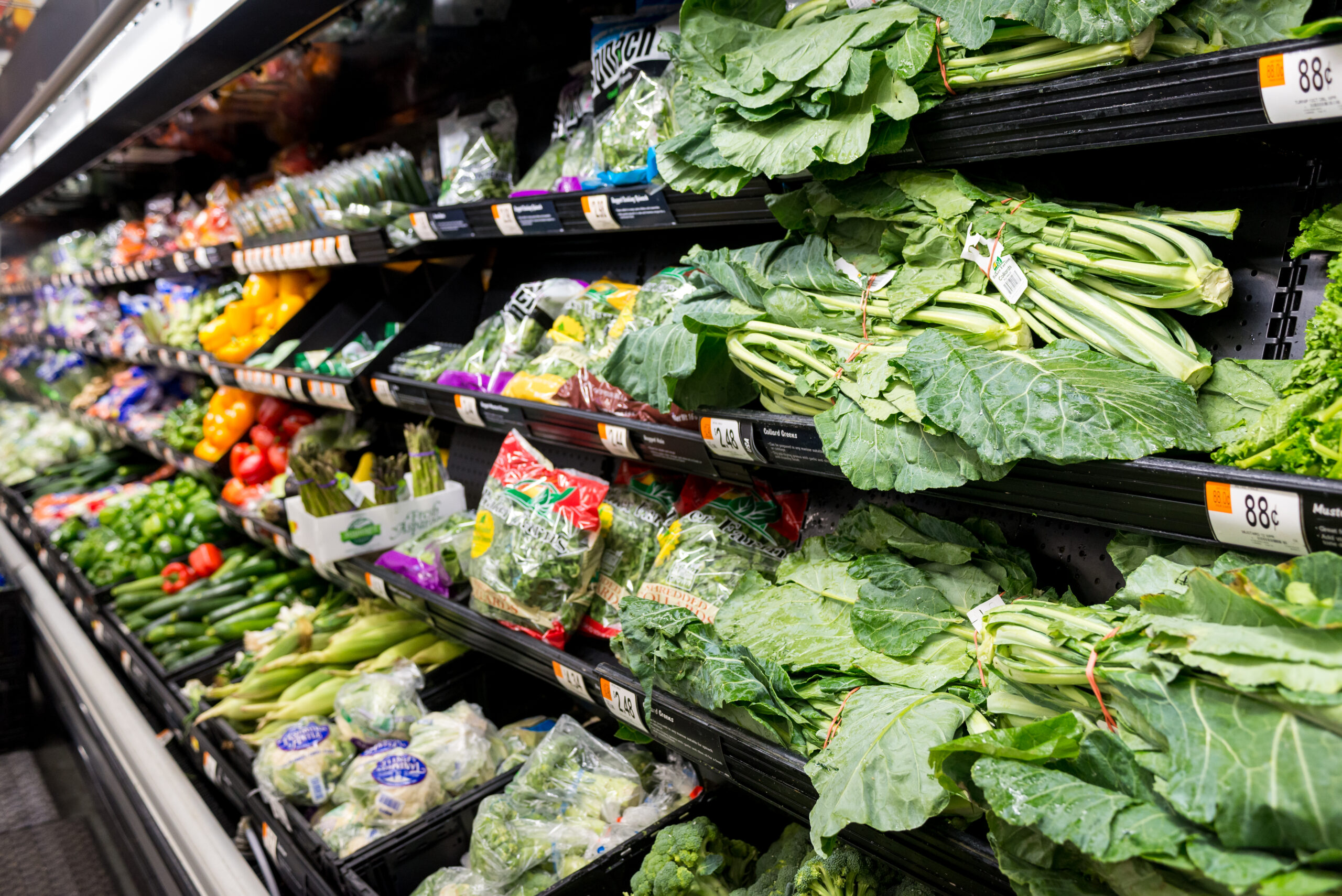 Produce at the monthly healthy shopping trip. Meridian, MS Tues, Nov. 24, 2020 (Photo By Revere Photography for Direct Relief)