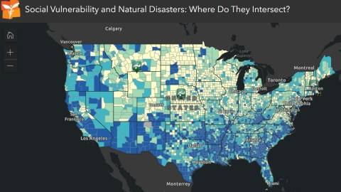 Areas of the Southern United States rank higher according to the CDC's social vulnerability index, which measures dozens of factors that may impact a community's ability to survive, and bounce back from, natural disasters. Dark blue areas measure higher for social vulnerability. (Direct Relief map)