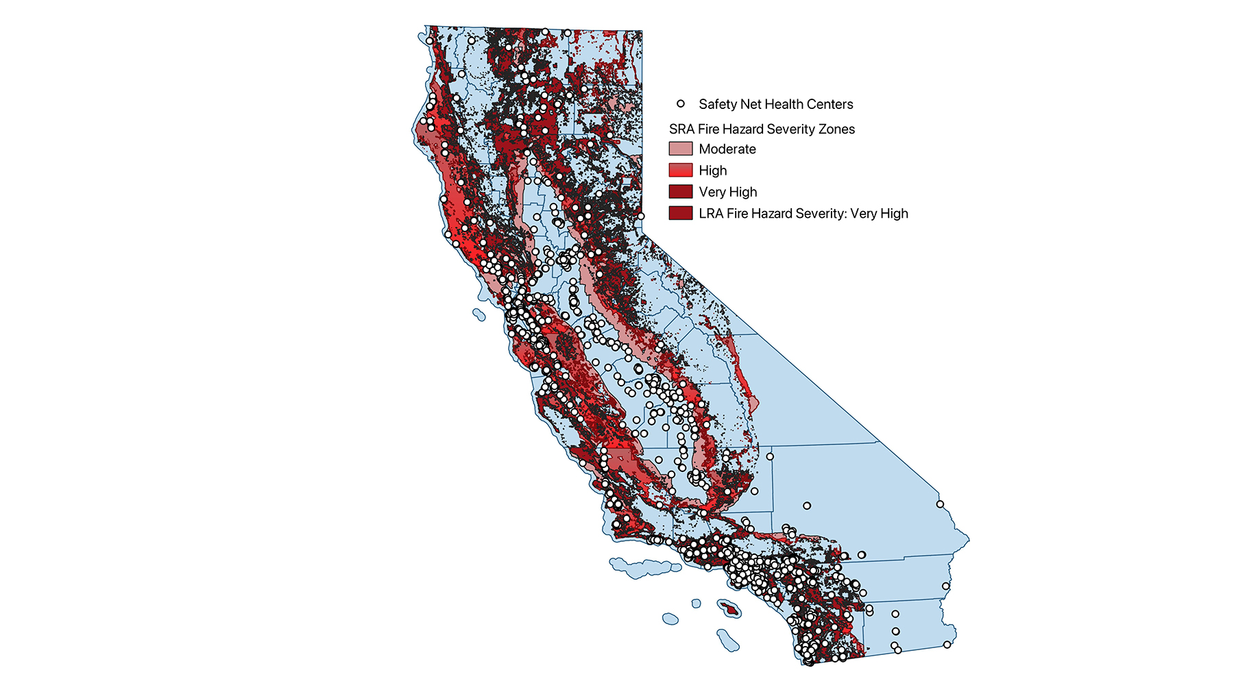 This map is also available via the frontline wildfire defense app ( android   ios ). Where Are Health Resources Most Needed To Prepare For The 2021 California Wildfire Season