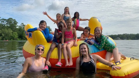 Campers enjoy cool waters at Camp Adam Fisher, a summer camp in Columbia, South Carolina, for children with Type 1 diabetes. Last week, Direct Relief shipped diabetes monitoring supplies to the camp, free-of-charge. (Photo by Camp Adam Fisher)