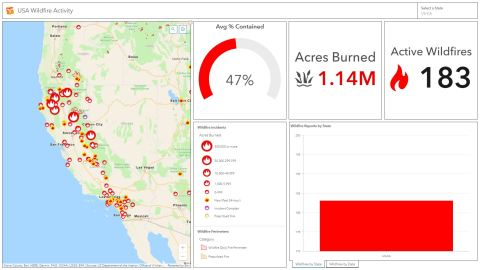 map of fires in CA