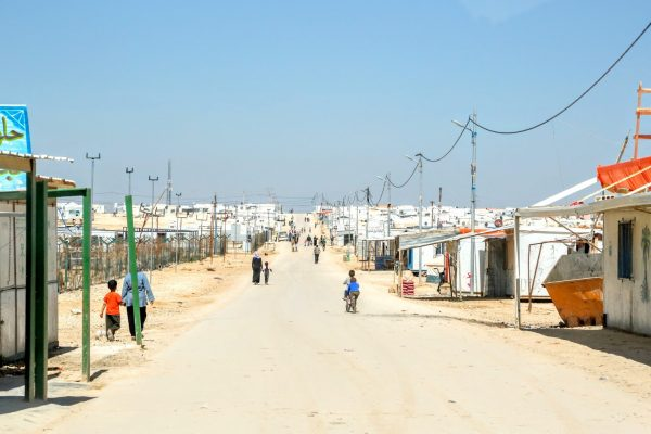 A Syrian refugee camp in Jordan is home to thousands of people who have fled the civil war in their homeland. Direct Relief is working to reach these people in Syria and Jordan, as well as Turkey and Lebanon.