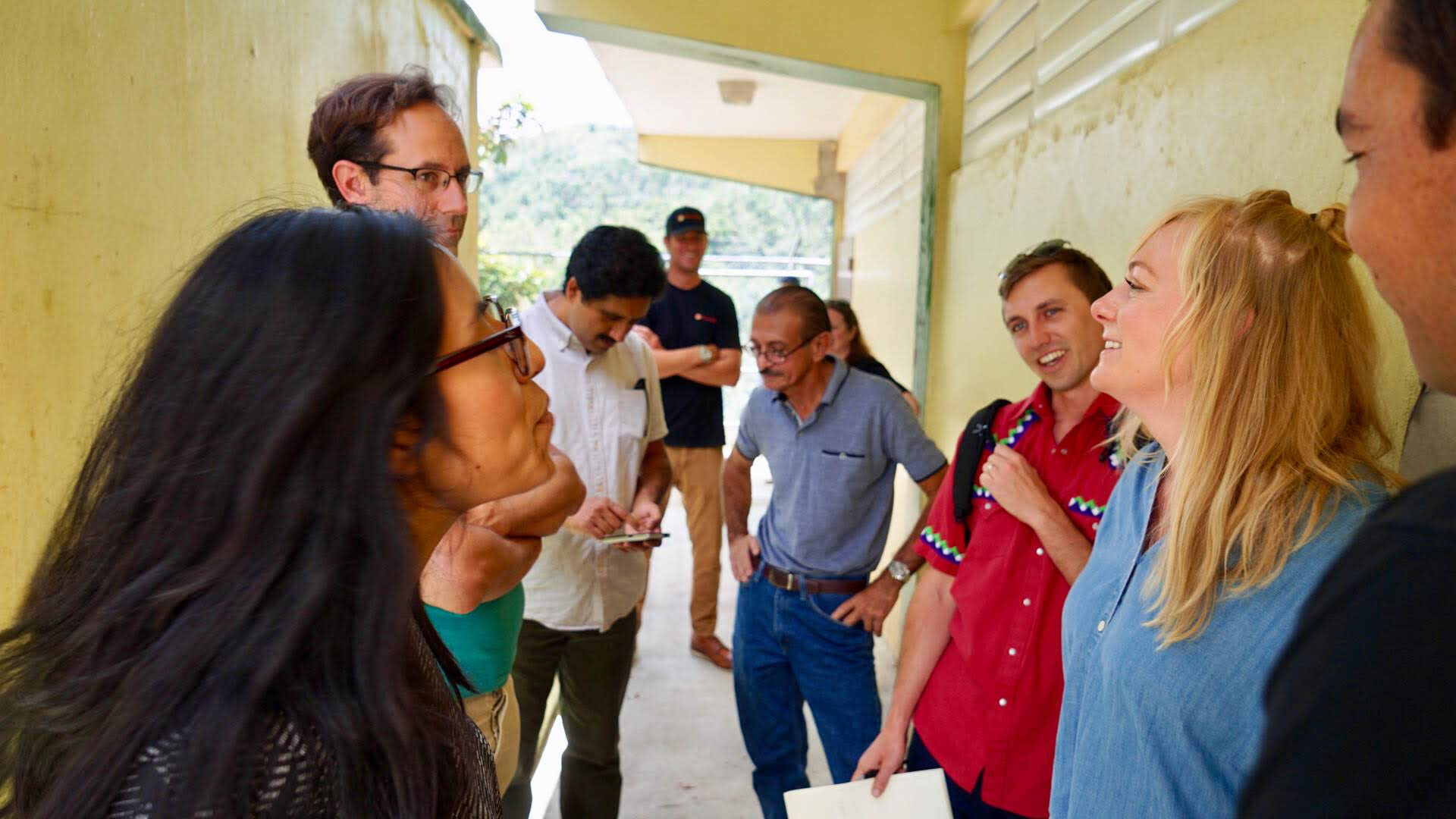 On Monday, July 16, staff from Facebook joined Direct Relief to visit neighborhoods in Utuado, Puerto Rico, where residents have been without consistent power and water for months. The Facebook team, which is focused on building tools to connect people in crisis, met with community leaders to learn how technology was used to shape Hurricane Maria response efforts. (Bryn Blanks/Direct Relief)