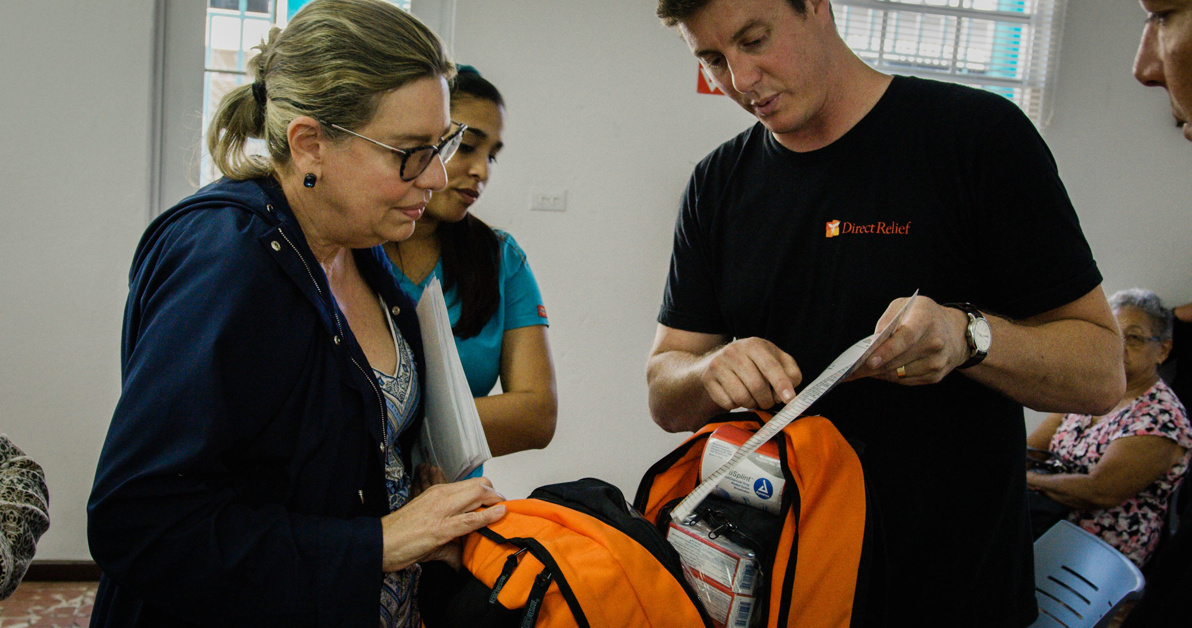 Emergency medical aid was delivered to Health ProMed in Vieques, an island 80 miles east of San Juan that was hit particularly hard by Hurricane Maria. (Photo by Bimarian Films for Direct Relief)
