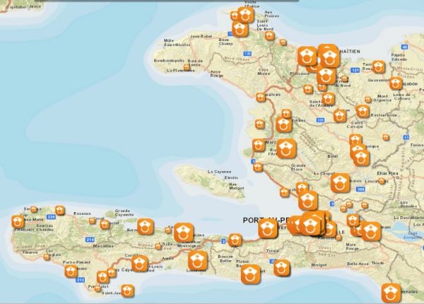 View where the aid has gone in Haiti on the Direct Relief aid map.