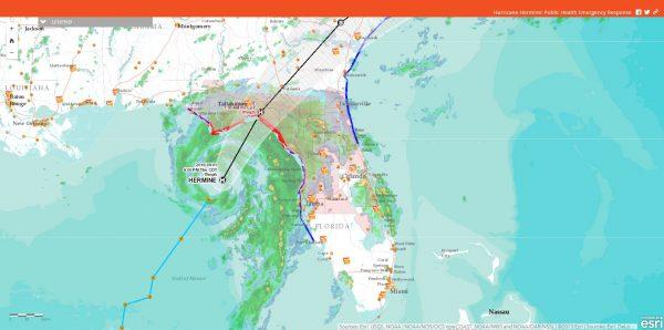 Hermine Hurricane Map