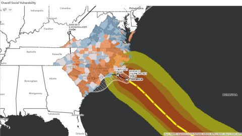 Overall Vulnerability, Hurricane Florence