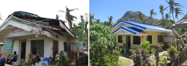 side by side Macatunao before and after