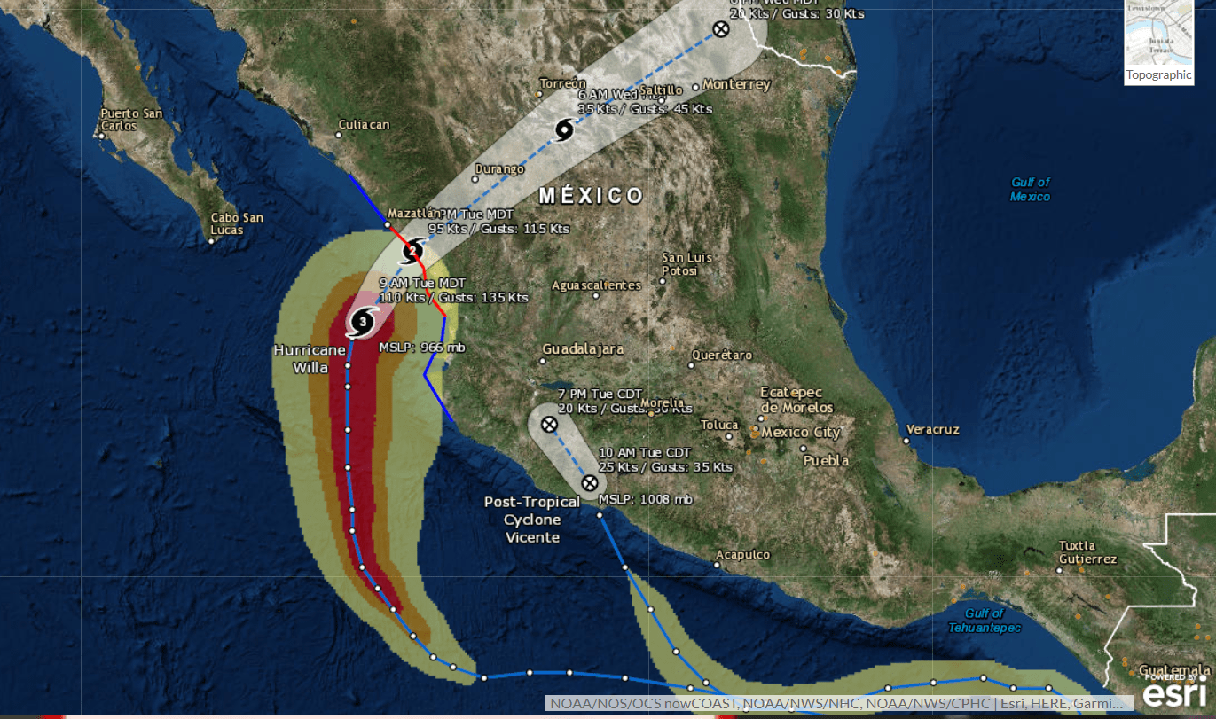 Mexico\'s Western States Brace for Hurricane Willa
