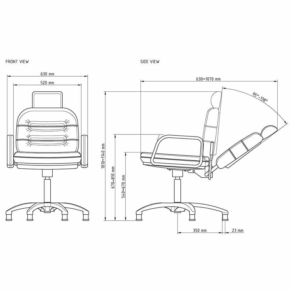 all purpose salon chairs reclining amazon beach wbx comforto gas lift chair | direct furniture