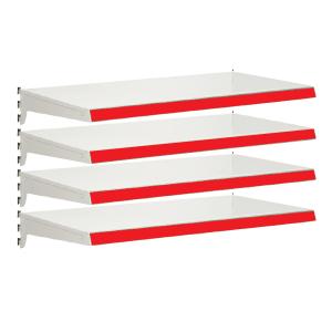 Pack of 4 complete heavy duty shelves for Evolve S50i - Jura & Red