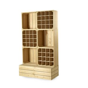 CrateWall Double Wine Wall Display