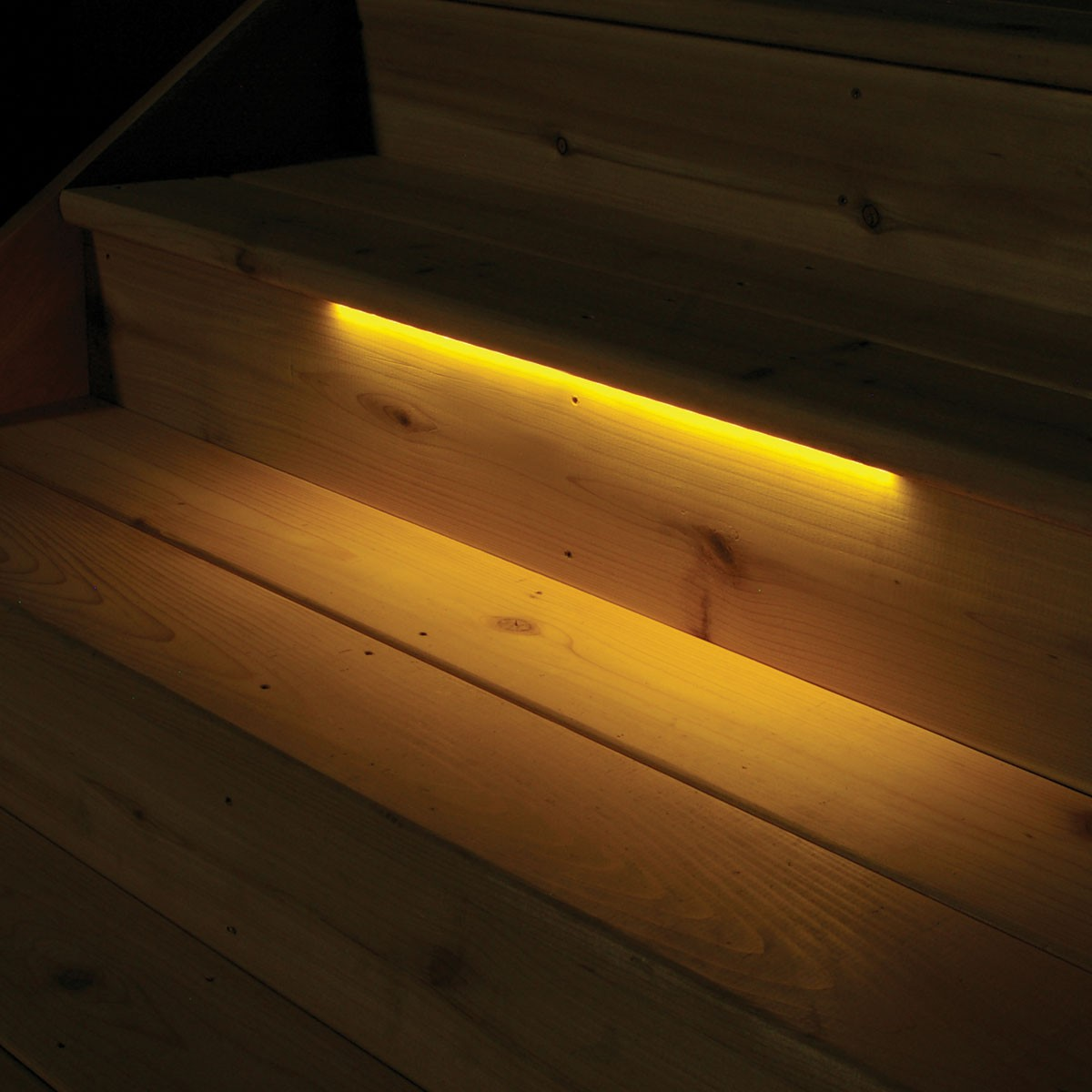 hight resolution of flat surface steps strip lights