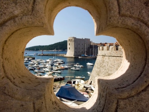 Dubrovnik, port, old fortress and the old town