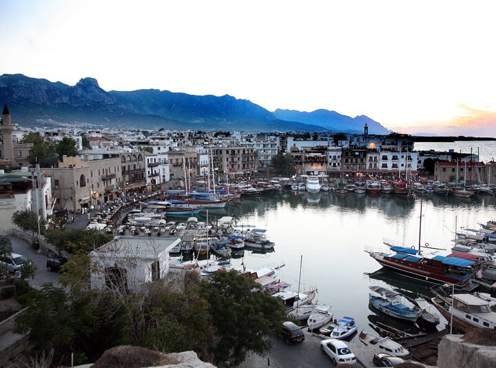 Kyrenia Harbour in North Cyprus