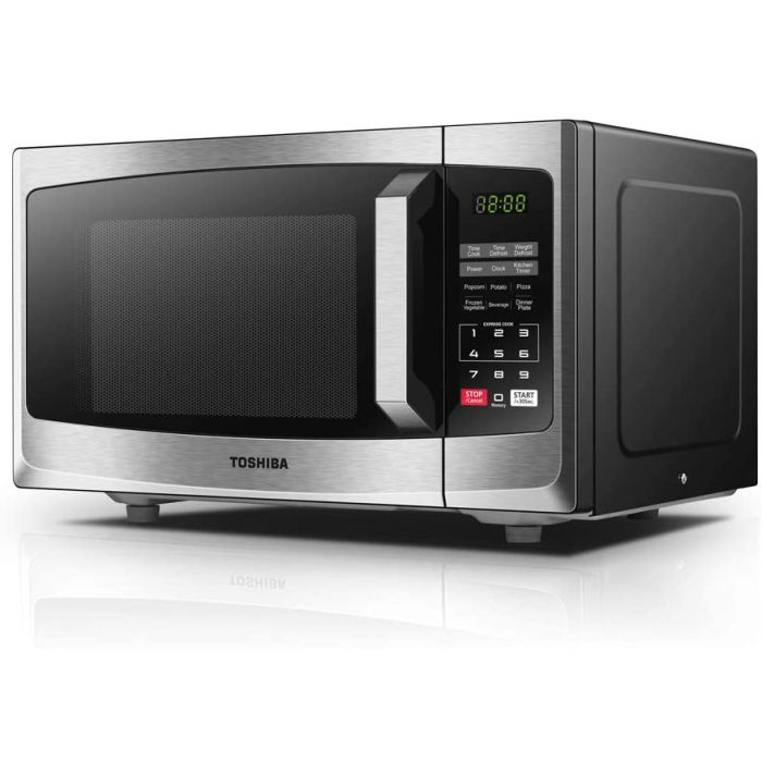 toshiba ml em23p ss solo microwave oven digital display 23l stainless steel