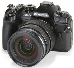 professional mirrorless cameras Olympus-OM-D-E-M1-Mark-II-left