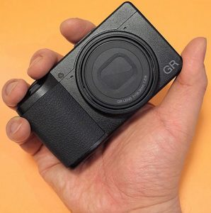Ricoh GR III in-hand