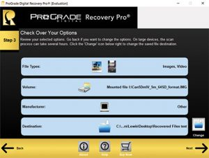 ProGrade Digital Recovery Pro 3-Step-Locations