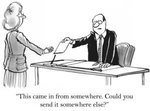 """""""This came in from somewhere. Could you send it somewhere else?"""""""