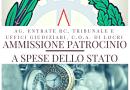 Protocollo Ammissione Patrocinio a spese dello Stato