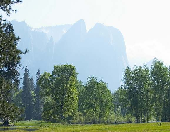 Hazey Yosemite Valley